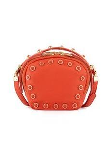 Cynthia Rowley Piper Studded Leather Crossbody Bag, Orange