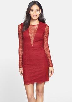 Cynthia Rowley Plunging V Lace Sheath Dress