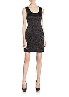 Cynthia Rowley Quilted Silk Charmeuse Dress