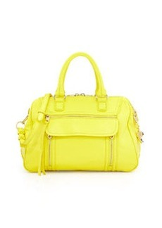 Cynthia Rowley Reece Leather Satchel Bag, Citron
