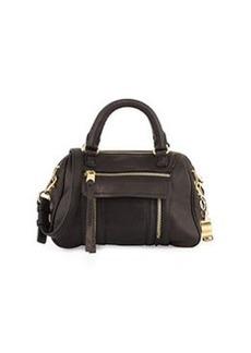 Cynthia Rowley Reece Mini Leather Satchel Bag, Black