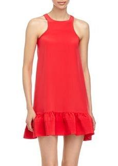 Cynthia Rowley Ruffle-Hem Sleeveless Flounce Dress, Red