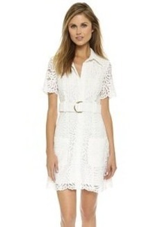 Cynthia Rowley Safari Belted Shirt Dress