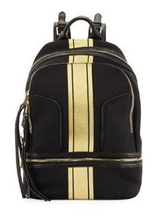 Cynthia Rowley Scuba & Leather Brody Backpack, Black