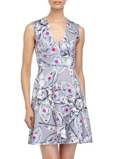Cynthia Rowley Star-Print Sleeveless Scuba Dress