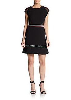 Cynthia Rowley Studded Crepe Dress