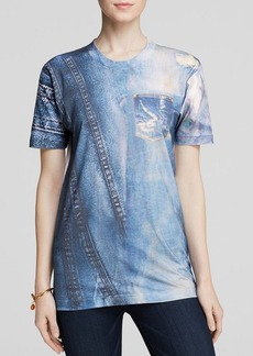 Cynthia Rowley Tee - Bloomingdale's Exclusive Denim Print