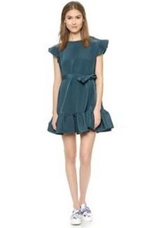 Cynthia Rowley Trapunto Belted Dress