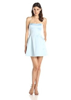 Cynthia Rowley Women's Bonded Satin Fit and Flare Dress