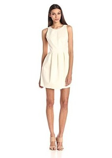 Cynthia Rowley Women's Bonded Satin Pleats Dress with Back Bow