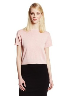 Cynthia Rowley Women's Cotton-Cashmere Short-Sleeve Sweater