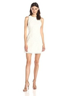 Cynthia Rowley Women's Embroidered Organza Mini Dress with Low Racer Back
