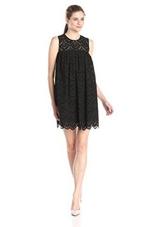 Cynthia Rowley Women's Embroidered Poplin Lace Tunic Dress