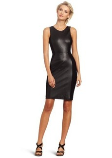Cynthia Rowley Women's Leather Knit Tank Dress