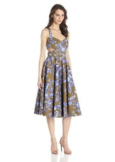 Cynthia Rowley Women's Paradise Printed Tea-Length Dress