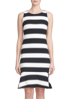 Cynthia Steffe 'Adrienne' Stripe Twill Trumpet Dress