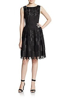 Cynthia Steffe Amalia Sleeveless Chevron Dress