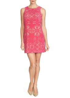 Cynthia Steffe 'Anna' Flocked Lace Shift Dress