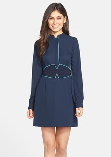 Cynthia Steffe 'Ashley' Contrast Trim Georgette Shirtdress