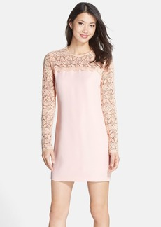 Cynthia Steffe 'Avia' Lace & Crepe Shift Dress