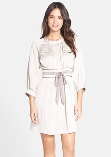 Cynthia Steffe 'Axelle' Satin Shirtdress