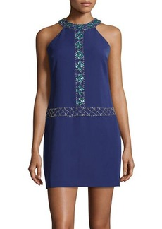 Cynthia Steffe Beaded Jersey-Knit Sheath Dress