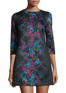 Cynthia Steffe Blythe Floral-Print Shift Dress, Rich Black