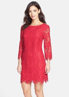 Cynthia Steffe Bow Back Lace Shift Dress