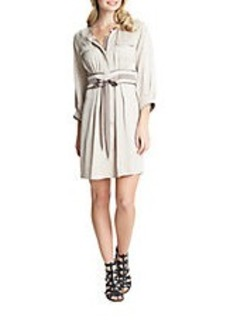 CYNTHIA STEFFE Bow Front Shirt Dress
