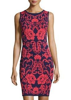 Cynthia Steffe Briella Sleeveless Floral-Print Sheath Dress, New Navy