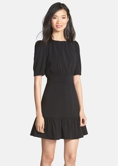 Cynthia Steffe 'Chandler' Ruffle Hem Crepe Fit & Flare Dress