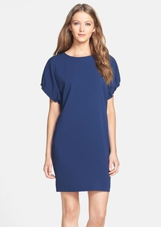 Cynthia Steffe 'Clarabelle' Shirred Sleeve Crepe Shift Dress
