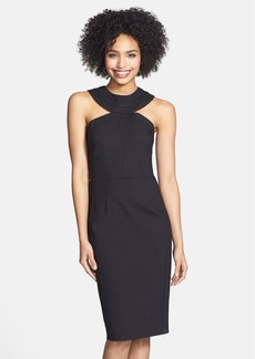 Cynthia Steffe 'Cleopatra' Band Collar Ponte Sheath Dress