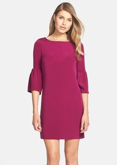 Cynthia Steffe 'Cora' Trumpet Sleeve Crepe Shift Dress