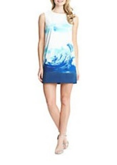 CYNTHIA STEFFE Courtney Wave Print Shift Dress
