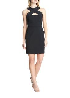 CYNTHIA STEFFE Cross Neck Sheath Dress