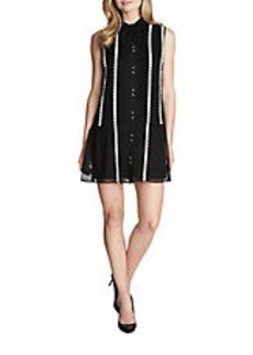 CYNTHIA STEFFE Danielle Tie Neck Shift Dress