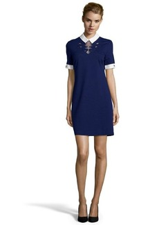 Cynthia Steffe deep indigo ponte knit 'Zaria' shift dress
