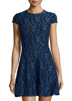 Cynthia Steffe Delphine Lace Fit-and-Flare Dress, Blue