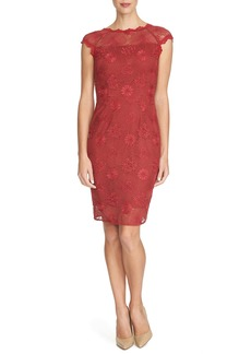 Cynthia Steffe 'Dina' Floral Lace Sheath Dress