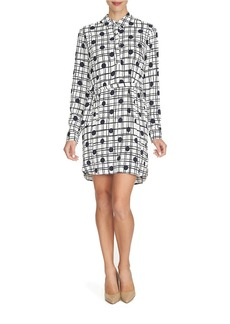 CYNTHIA STEFFE Dotted Windowpane Shirtdress