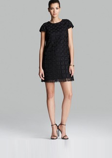 Cynthia Steffe Dress - Audrina Cap Sleeve Square Lace Shift