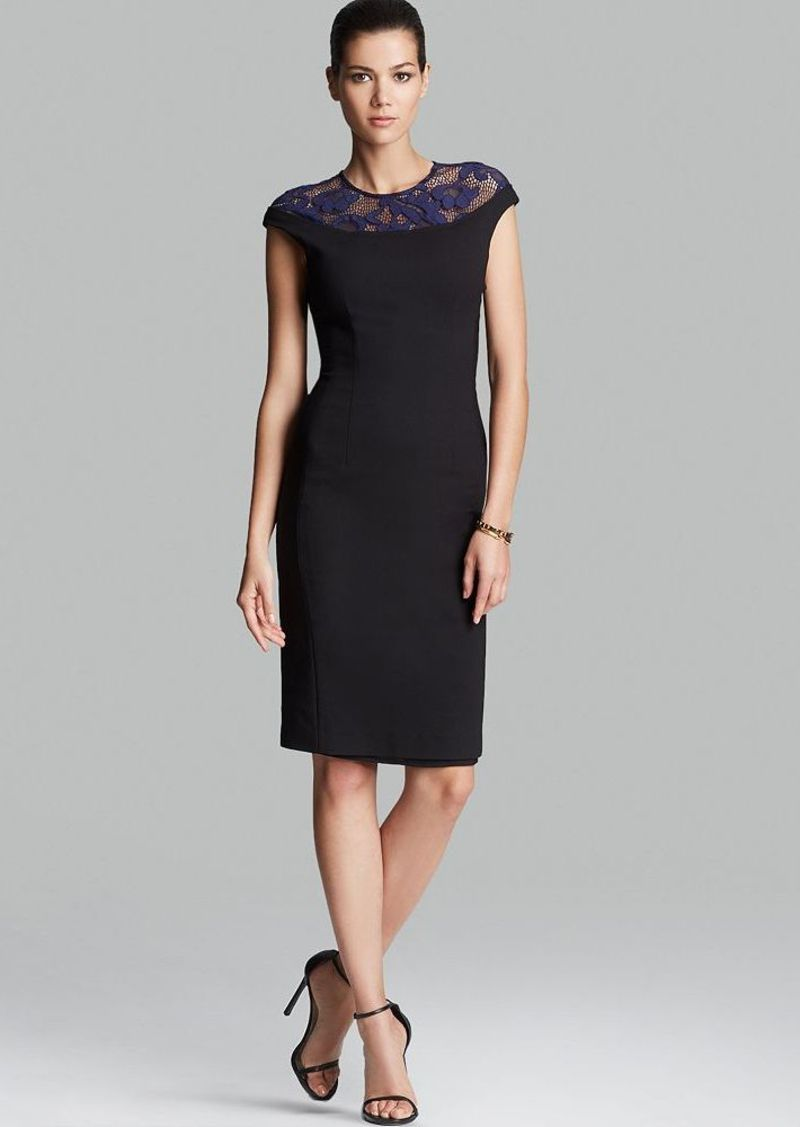 Cynthia Steffe Dress - Linsey Cap Sleeve Lace Yoke Sheath