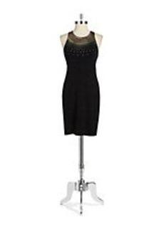 CYNTHIA STEFFE Embellished Sheath Dress