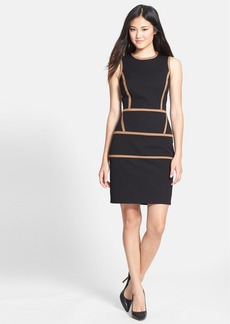 Cynthia Steffe 'Ember' Seamed Twill Sheath Dress