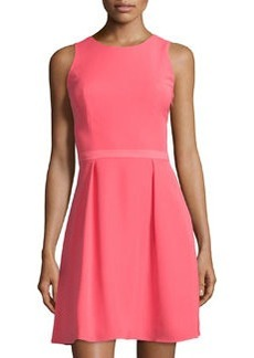 Cynthia Steffe Enna Knotted-Back Dress, Coral Bloom
