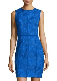 Cynthia Steffe Floral-Embroidered Sheath Dress