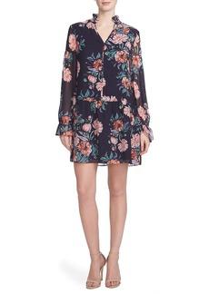 Cynthia Steffe Floral Print Chiffon Shirtdress