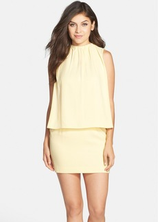 Cynthia Steffe Gathered Neck Crepe Popover Dress