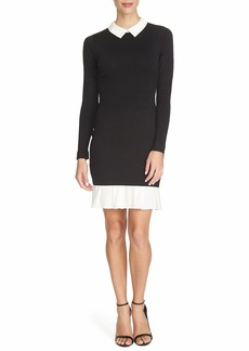Cynthia Steffe 'Heather' Collared Sweater Sheath Dress